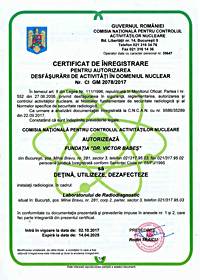 Authorization to conduct nuclear activities (I)